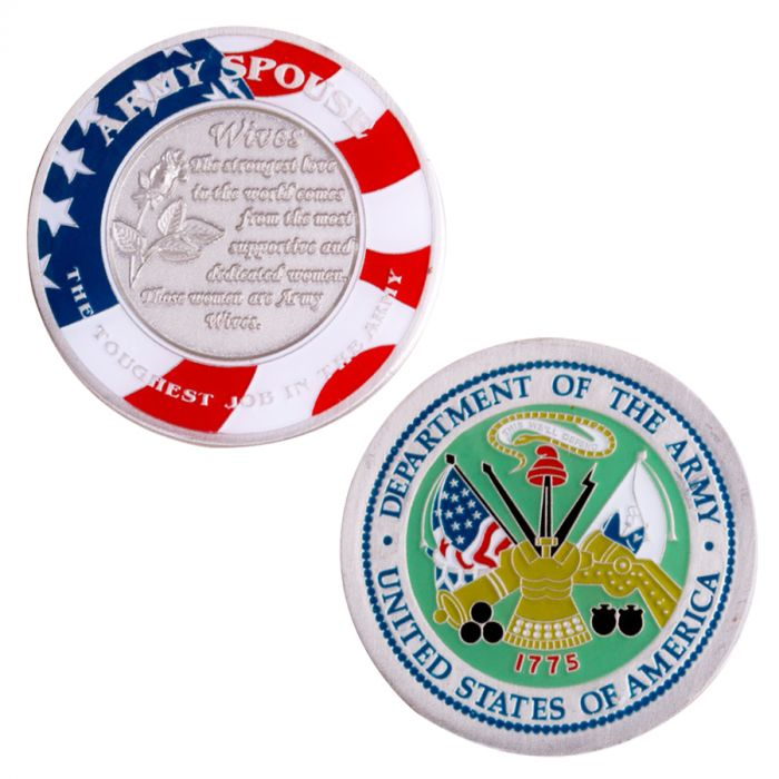 US Army Wife Challenge Coin Army Spouse