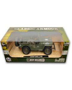 Die Cast Metal Classic Amour Jeep Willys 1:32 Scale
