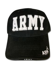 Army Embroidered Black Cap