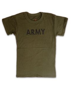Youth Short Sleeve Olive Green T-Shirt