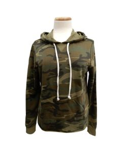 Ladies Camo Fleece Hoodie