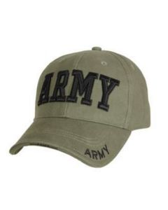 Ladies Army Embroidered Low Profile Insignia Cap