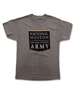Youth NMUSA Logo Grey T-Shirt