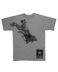 Adult Patriotic Eagle & Flag U.S. Army Tee