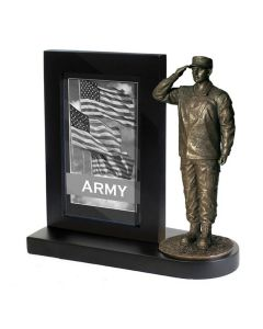 Male Army Statue & Frame