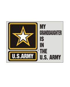 My Granddaughter Is In The U.S. Army Decal