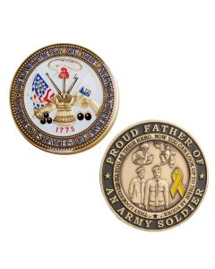 Proud Father Of An Army Soldier Challenge Coin