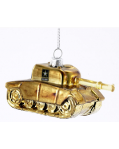U.S. Army Tank Glass Ornament
